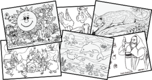 Samples Of Online Coloring Book At Uncle Moishy World Website