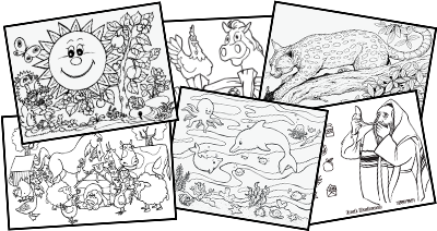 samples of online coloring book game at uncle moishy world website