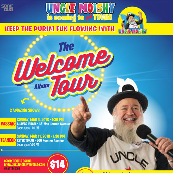 uncle moshy welcome album concert tour is coming to teaneck new jersey march11 2018
